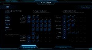 union cosmos star citizen drake buccaneer thecnical data